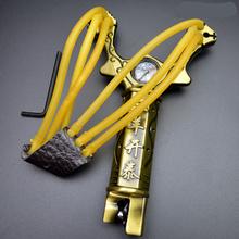 Nowy profesjonalny proca polowanie potężny katapulta metalowe Hunter ze stopu Aluminium ze stopu Aluminium Sling Shot z potężny gumką tanie tanio Łuk sanyang slingshot 165mm 204g 98mm 53mm