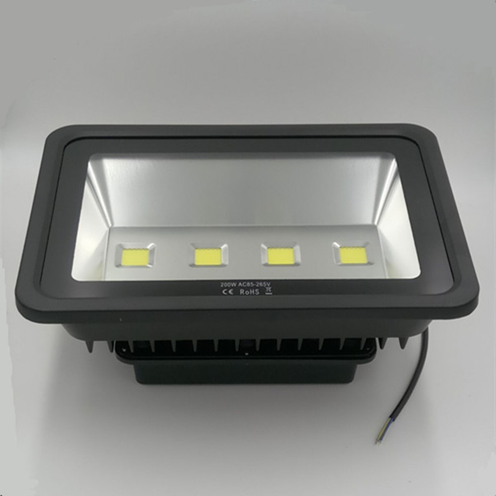 ultrathin LED flood light 200W AC85-265V waterproof IP65 Floodlight Spotlight Outdoor Lighting Free shipping ultrathin led flood light 100w 150w 200w black garden spot ac85 265v waterproof ip65 floodlight spotlight outdoor lighting