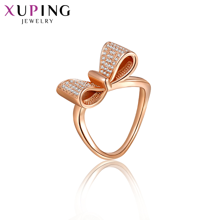 Xuping Luxury Fashion Rings Rose Gold-color Plated Wedding Rings Jewelry Valentine's Day Gifts for Women S31-10022