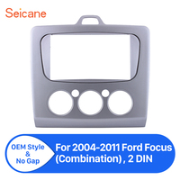 Seicane refitting 2 Din Car Radio Panel Frame Fascia for 2004 2005 2006 2007 2008 2009 2010 2011 Ford Focus Dash CD Trim Kit