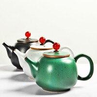 Ceramic Kungfu Tea Teapot Handemade Japanese Style Crude Pottery Tea Sets Fambe Antique Single Chinese Traditional Teapot