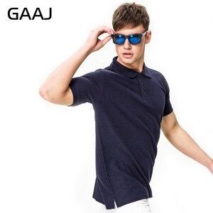 Image 2 - GAAJ 100 כותנה חולצת פולו גברים 2020 מותג חולצות לגבר קצר שרוול קיץ אופנה בגדי יין כחול אפור אדום חיל הים Mens Polos