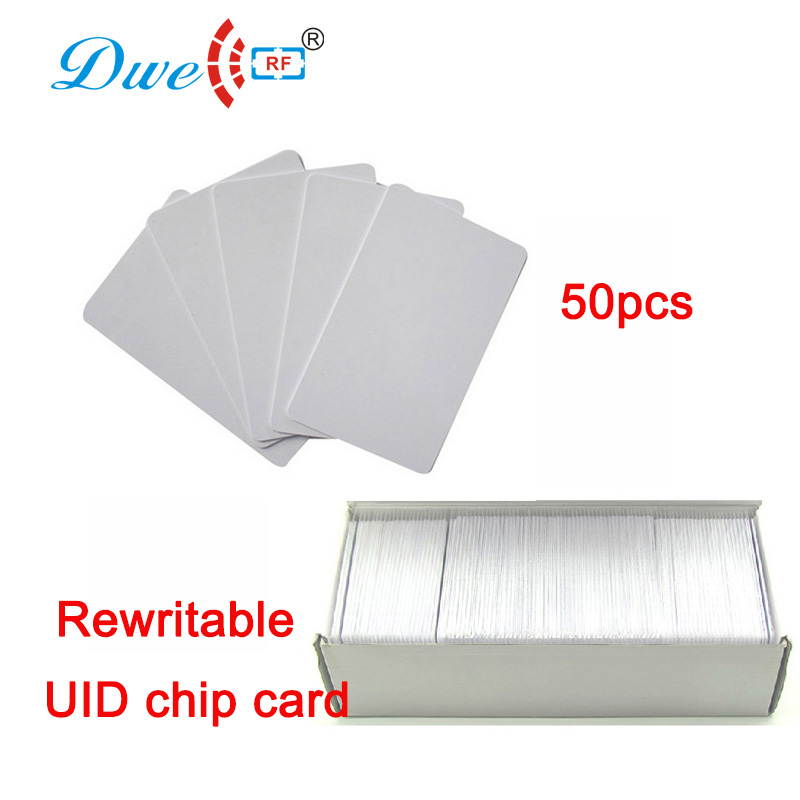 DWE CC RF high performance copper wire UID inner chip card RFID Blank Cards to Clone 13.56mhz mf card
