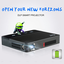 RD601 Built in battery Home theater Portable DLP 3D LED android 4.4 smart WIFI Projector Ultra Full HD cinema movie proyector