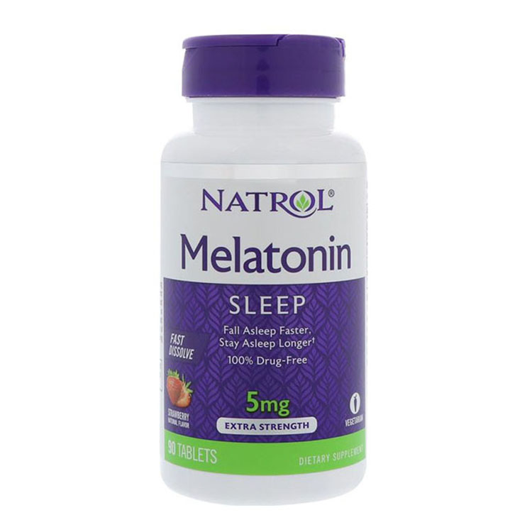 Natrol Melatonin 5 Mg 90 Pcs Fall Asleep Faster Stay Asleep Longer
