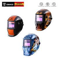 DEKO Original Movido A Energia Solar Auto Escurecimento Welding Helmet Máscara Ajustável Faixa de 4/9-13 para TIG MIG Arc Máscara do Soldador