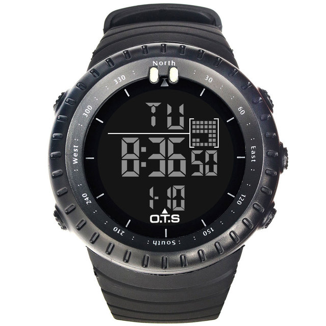 OTS 2017 Sport LED Digital Watch Men Top Brand Luxury Famous Wristwatch Male Clock Electronic Digital-watch Relogio Masculino