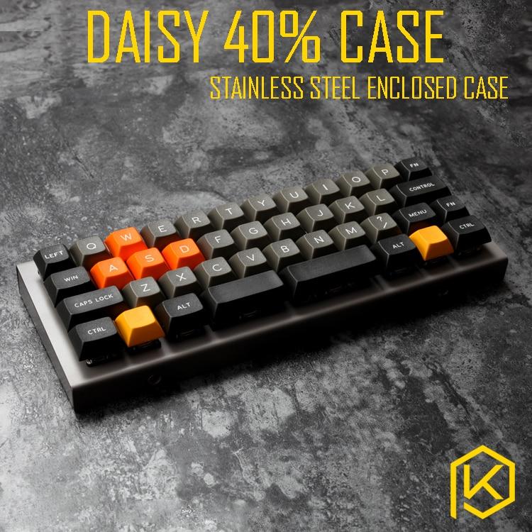 Case de Aço Dobrado para Daisy Superior e Inferior Inoxidável Custom Case Teclado Mecânico Fechado 40%