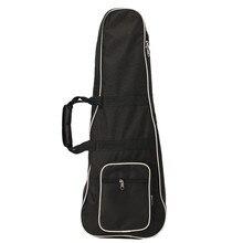 Black Oxford Classic Soft Acoustic Guitar Bass Case Bag Holder With Double Shoulder Straps Fit For Mandolin