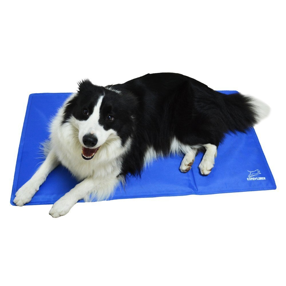 Summer Blue Cooling Gel Pad Dog Ice Mat Non Toxic Soft Cool Dog Bed for Big Dog Cat Pets