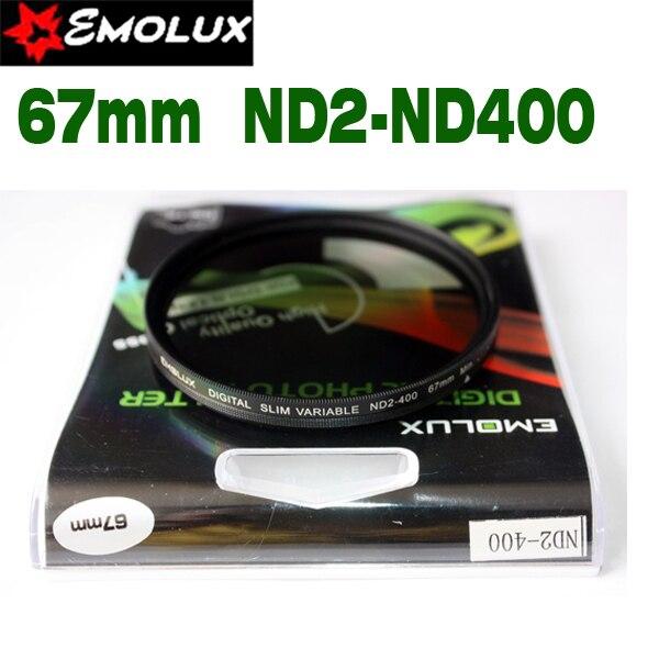 67mm Emolux Slim Neutral Density Filter ND2-400 Variable Fader Filter Adjustable ND2 to ND400 For Camera Lens