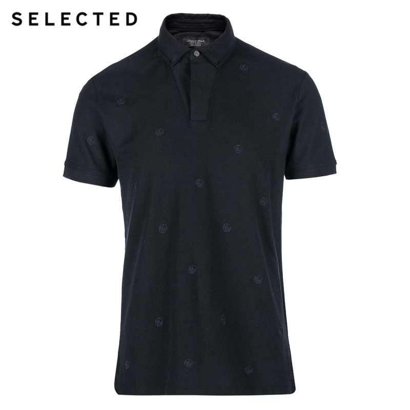 Selected  Men's Double Tapered Knitted Polo Short-Sleeved Shirt SH | 416206003