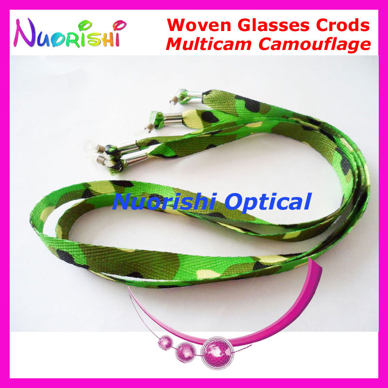 10pcs Multicam Camouflage Fashion Polyester Woven Eyeglasses Sunglasses Eyewear Spectacle Lanyard Cord Chain Free Shipping L720