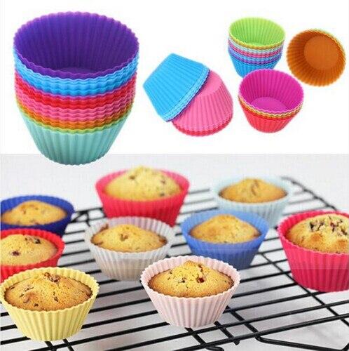 Mini Silikon Kap Kek Tava Kal Muffin Cupcake Mlekleri Formu Pi