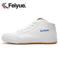 Feiyue schuhe Neue weiß Delta Mid Felo Top Sneaker Kampfkunst KungFu Klassische Leinwand schuhe|Skateboarding|Sport und Unterhaltung -