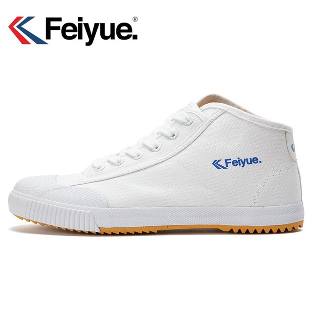 Feiyue shoes New white Delta Mid Felo Top Sneaker Martial Arts KungFu  Classic Canvas shoes e95ebb633471