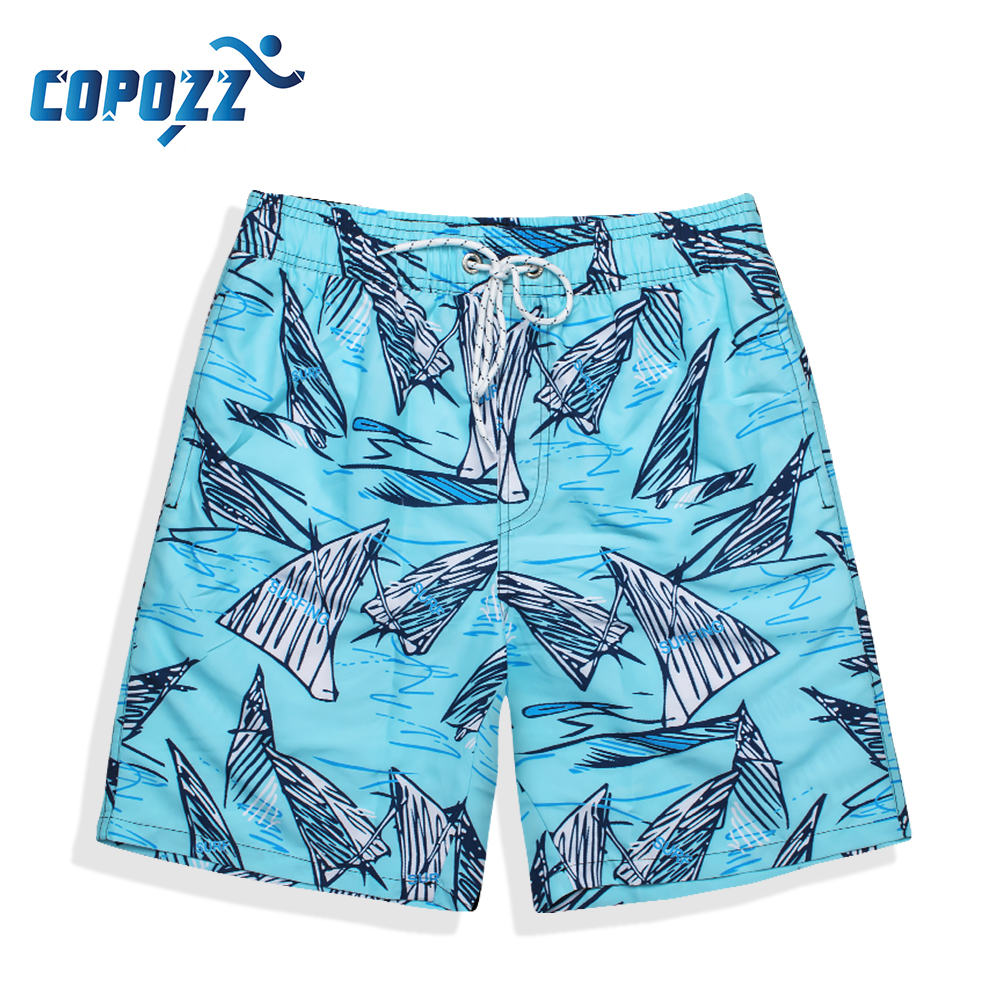 COPOZZ Pocket Quick Dry Swimming   Shorts   with Liner Men Swimwear Swimsuit Swim Trunks Summer Bathing Surf Boxer Beach   Board     Short