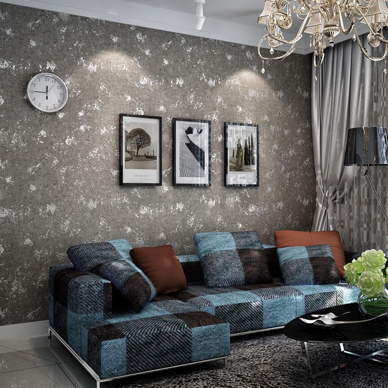 living grey dark background modern sofa wallpapers tv desktop borders fabric painting roll wall bedroom improvement