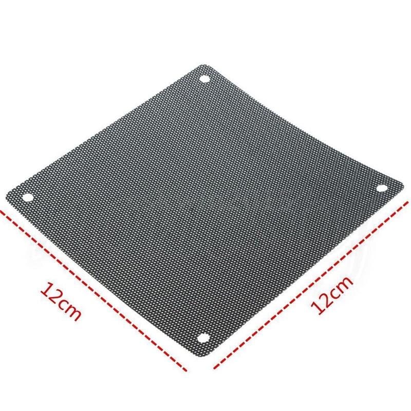 5PCS/lot 120mm Cuttable Black PVC PC Fan Dust Filter Dustproof Case Computer Mesh 5