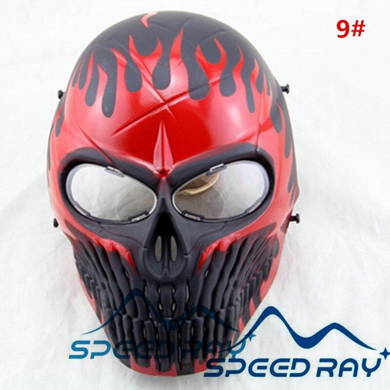 Paintball mask with Skull skeleton full face anti fog lens with Out door CS games equipment 12 ...