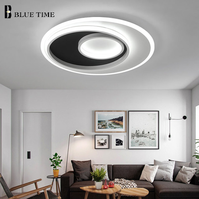 Acrylic Oval Modern Led Ceiling Lights Living Room Dining Room
