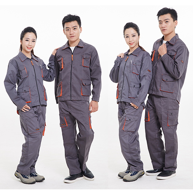 2017 Wor Kclothes Men Woman Workwear Zipper Fashion Stitching Hit The Color Processing Maintenance Wear-Resistant Suit Overalls