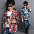 Children Camouflage Jackets For Boys Clothing Cotton Big Boy Hooded Coats Autumn Teens Outerwear 4 6 8 10 12 Years Kids Tops