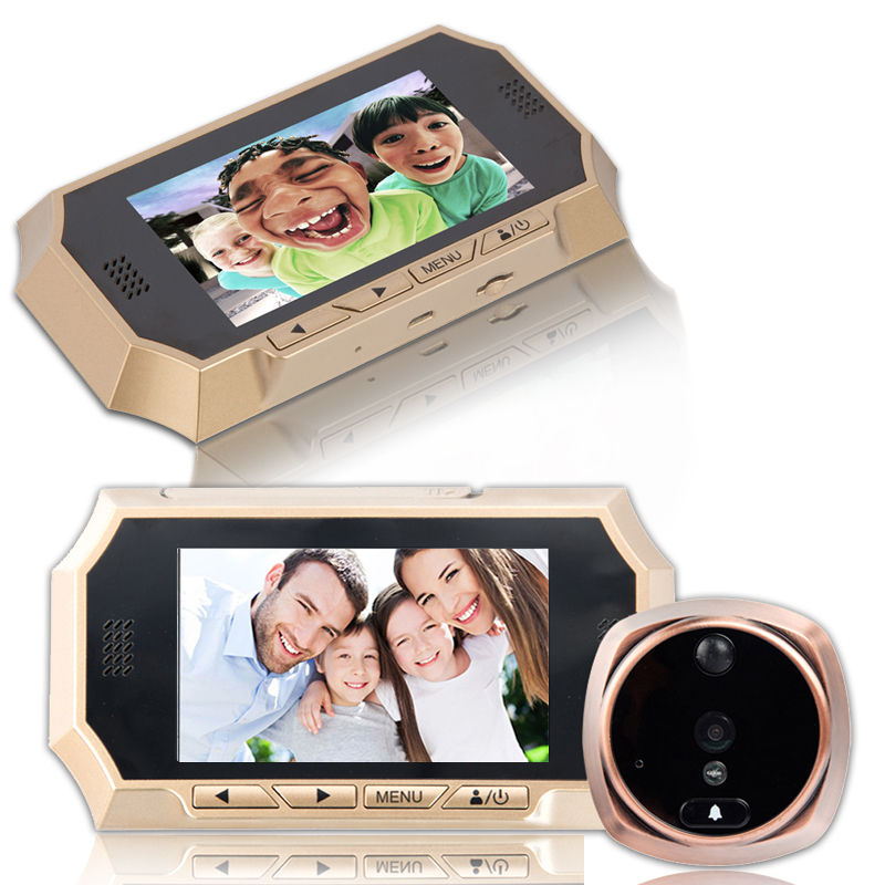 4.3 Inch LCD Door Phone 720P HD Peephole Viewer Night Vision Digital Doorbell Color IR Camera Automatic Video Ring цена