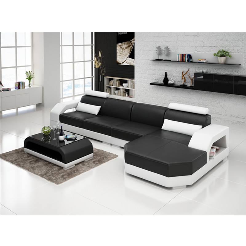 US $1279.0 |Many color choices genuine leather sofa for living room-in  Living Room Sets from Furniture on AliExpress