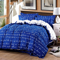 2017 New Fashion Bedding Set 5 Sizes 4pcs/set Duvet Cover Sets Soft Polyester Bed Linen Flat Bed Sheet Set Pillowcase Home Text
