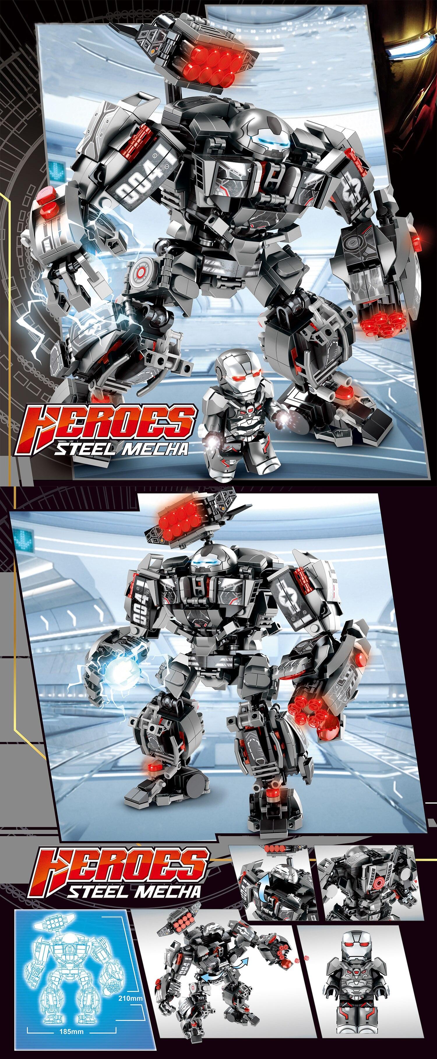 Image 5 - Marvel строительные блоки Железный человек халкбастер военная машина Супер Герои Мстители бесконечные войны детские игрушки подарки 2 типаБлочные конструкторы   -