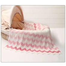 Couvertures de bébé en laine tricotée pour nouveau né, couverture de literie chaude Super enveloppement doux
