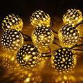 Solar Powered Outdoor String Light IP44 Waterproof 20 LED Garden Light White