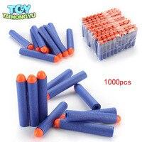 TAIHONGYU 7.2cm 500pcs 1000pcs Blue Round Hollow Head Refill Toy Gun Bullet Darts for NERF N Strike Blaster Children Gift