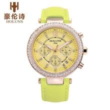 HOLUNS LS003 Watch Geneva Brand CHRONOGRAPH LADY Fashion luxury watches diamond T906.217.76.112.00 relogio feminino