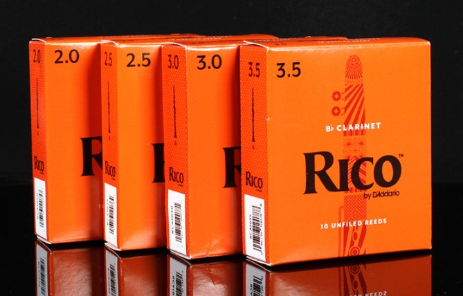 Rico By D'Addario Bb Clarinet Reeds, Strength 2/2.5/3/3.5, Single Piece Or Box Of 10 Available
