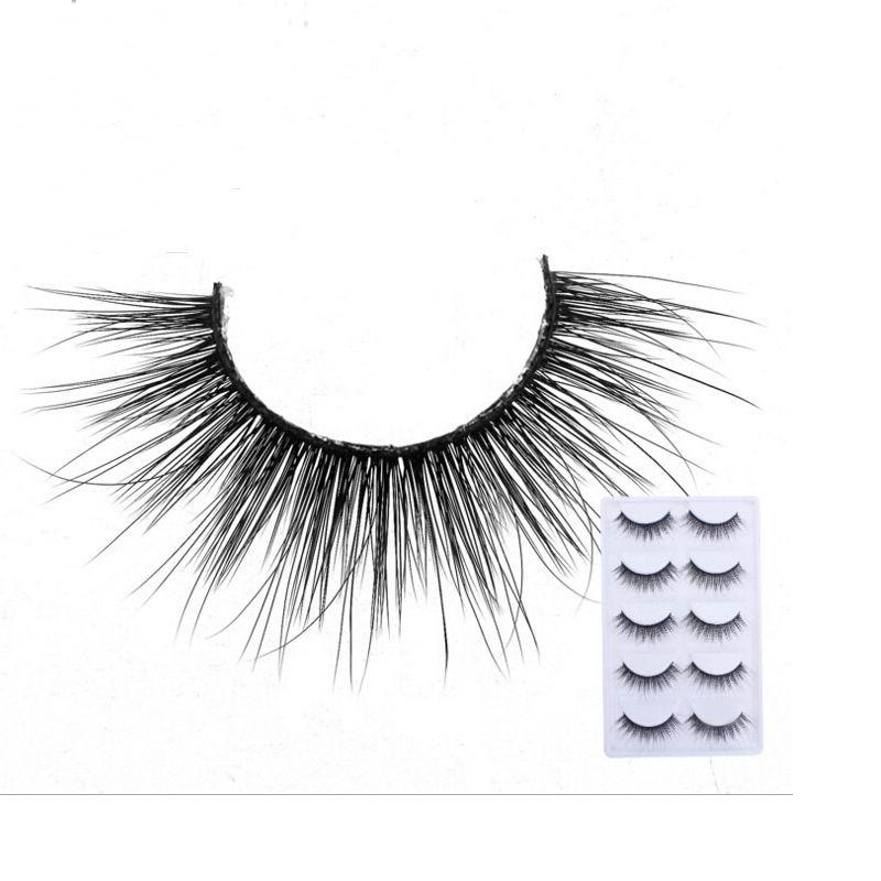 2018 NEW 5 Pairs mink eyelashes natural long 3d mink lashes hand made false eyelashes 1 box makeup eyelash extension E33
