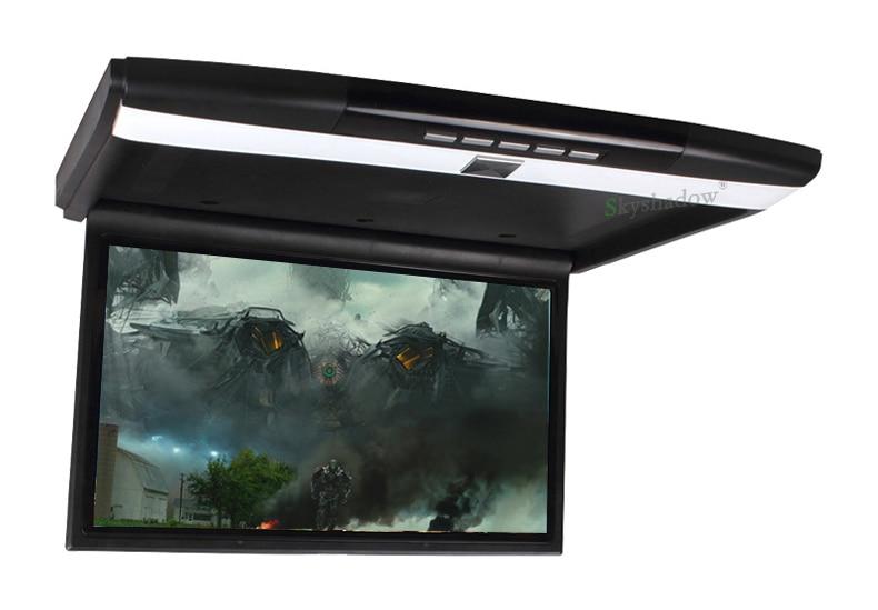 "Perfect Stylish 17.3"" / 15.6"" Color TFT LCD Display 12V~24V Roof Mount Car Monitor Flip Down Car Monitor Player HD 1080P HDMI USB SD FM 5"