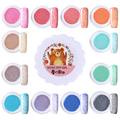 1 Caja Soak Off Gel 5g de Piel de Piel Efecto de Uñas de Arte UV Gel Polaco 12 Colores