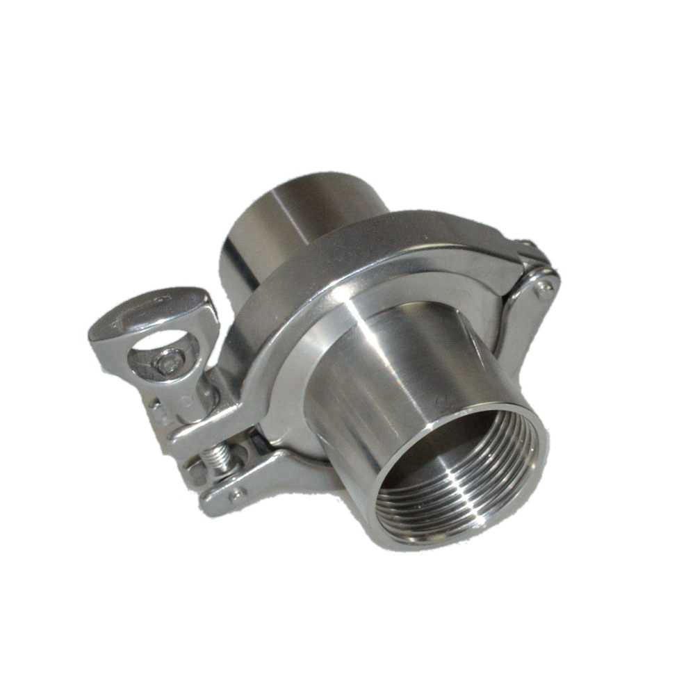 1/2-2(DN15-DN50) Sanitary Stainless Steel SS304 Female Threaded Ferrule Pipe Fittings+Tri Clamp+PTFE Or Silicone Gasket megairon 2 dn50 sanitary female threaded ferrule pipe fittings tri clamp type stainless steel ss316