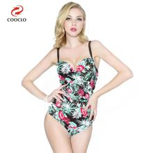 купить new arrival one piece swimsuit floral print women swimwear backless beachwear vintage one piece swimwear по цене 1015.4 рублей