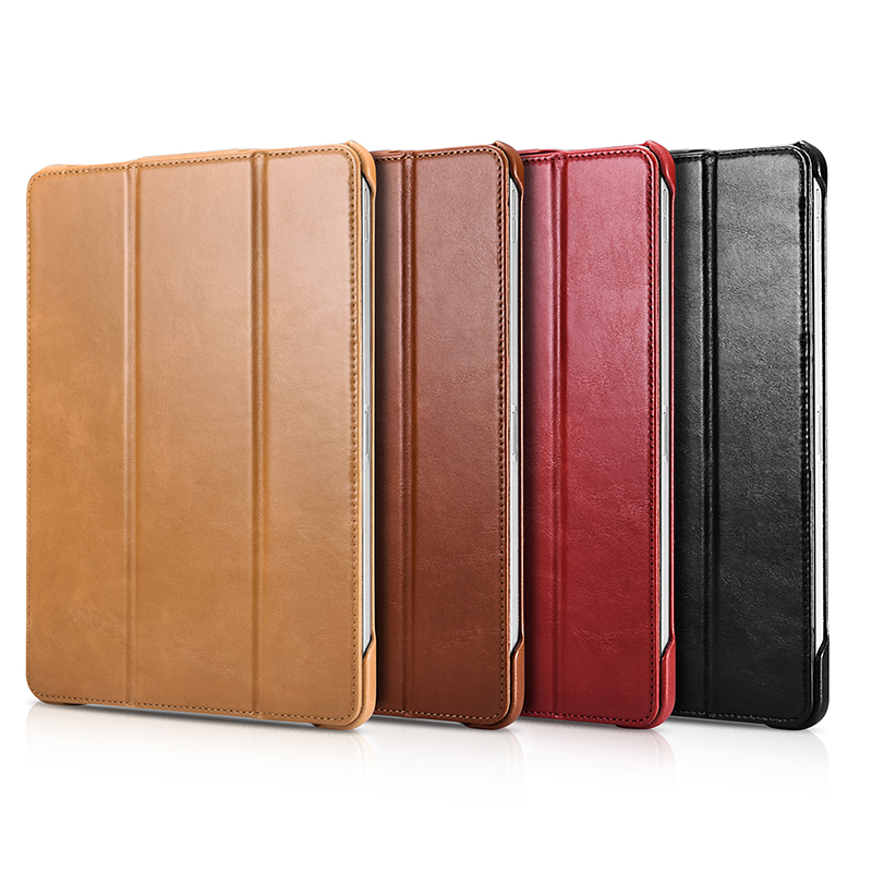 For iPad Pro 12.9 2018 Case Vintage Genuine Leather Flip Smart Case For Apple iPad Pro 12.9 inch 2018 Cover Stand Wake Sleep Bag