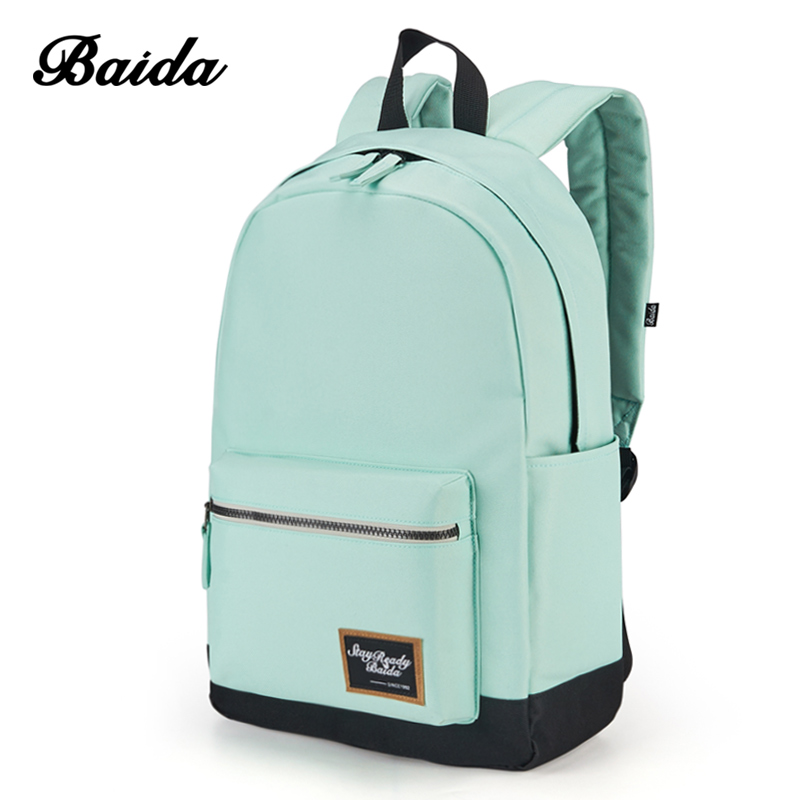 Fashion Backpack For Women Leisure Trip Rucksacks Back Pack For Girls Teenager Contrast Color Laptop Bagpack School Bags