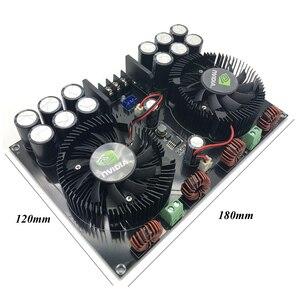 Image 3 - Lusya TDA8954TH çift çekirdekli dijital ses güç amplifikatörü kurulu 420W * 2 stereo amplifikatör için fan ile 2 8ohm hoparlör B5 002