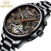 Top Brand Luxury Fashion Automatic Mechanical Watch Men Stainless Steel Waterproof Calendar Sport Wrist Watch Relojes