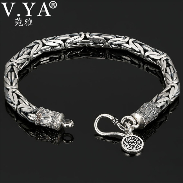 7931bc6acb69 La mejor compra V YA genuino 100% plata esterlina 925 puro de ...