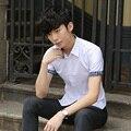 Tipo TG6267Cheap atacado 2016 edição newHan lazer moda cultivar a moralidade camisa de manga curta camisa floral fino molhado