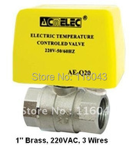 Motorized Ball Valve Brass 1 3 wires for chilled water air conditional system hot cold water