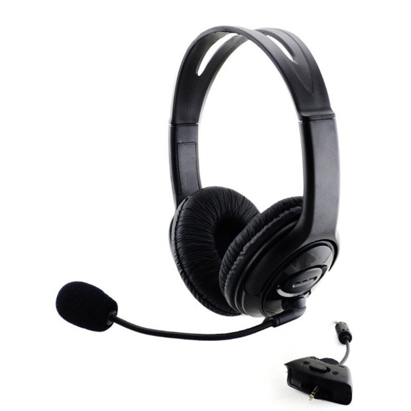 New Wired Gaming Headset Stereo Gamer Headphone 2.5mm Aux Game Headphone With Microphone For XBOX 360