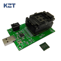 eMCP162 BGA186 Socket/adapter with clamshell programming adapter USB HDD flash memory mobile tablet data recovery socket